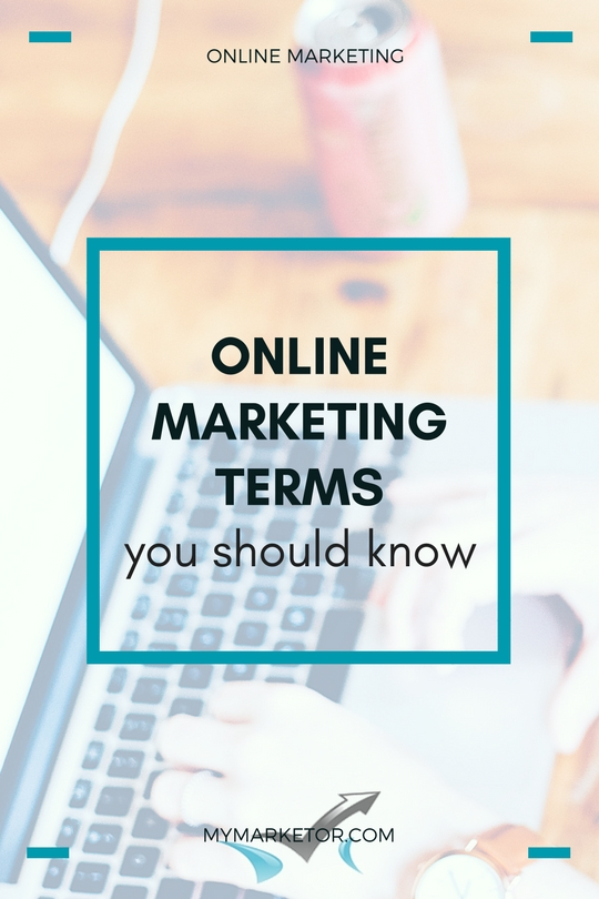 online marketing terms you should know